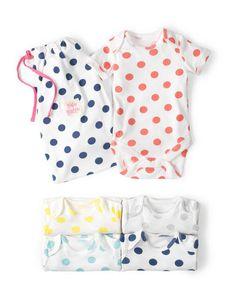 067952db682 5 Pack Summer Bodysuit 71417 Essentials at Boden Summer Body
