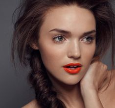 Add a pop of orange to your puckers this spring! #ecomakeup #springmakeup  Read more here: http://nibella.net/?p=1360