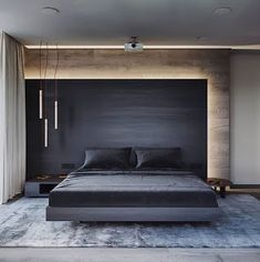 49 Minimalist Bedroom Design Ideas for Simple Person Like You Recommended For You Modern Master Bedroom, Bedroom Black, Modern Bedroom Design, Master Bedroom Design, Trendy Bedroom, Bed Design, Modern Interior Design, Bedroom Wall, House Design