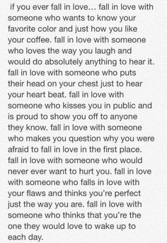 Fall in love with..