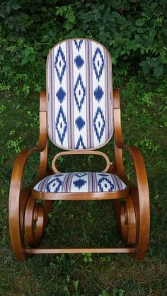 Beautiful Mid-Century Bentwood Rocking Chair by LoraleighVintage on Etsy… Patio Chair Cushions, Diy Chair, Furniture Makeover, Cool Furniture, Nursery Furniture, Wooden Furniture, Furniture Ideas, Bentwood Rocker, Rocking Chair Makeover