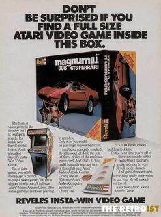 A Magnum P.I. Ferrari Model AND a full-sized Video Game?