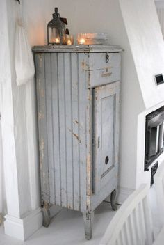 Shabby grey cupboard