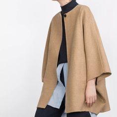NWT ZARA HANDMADE WOOL CAPE MSRP $189 SIZE M BRAND NEW W/TAGS. Zara Jackets & Coats Capes