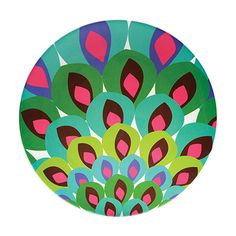 Gala Round Platter  Gala gala hey! It's a Ballroom blitz! Swirl through the party in a stunning shower of flowers and feathers that fan the dance floor.  • High-grade, glazed melamine; scratch and shatter resistant; non-absorbent; bpa-free • 15-inch diameter round serving platter • Heat-resistant to 356-degree F, 180-degree C; dishwasher safe; not for microwave use • Indoor-outdoor use; coordinates with other French Bull products