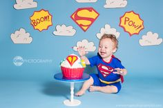 Superhero Cake Smash #superman #comic #dc #photography