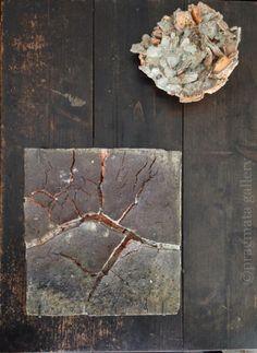 """Square planet discovered"" Ceramic objet by Yuji Ueda. 「正方形の惑星が発見された」 上田勇児さんの陶芸。"