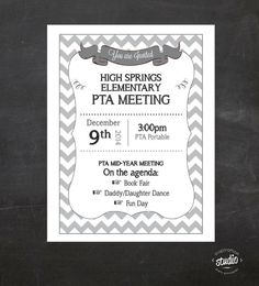 Meeting Announcement Flyer   Custom by jjinspirationstudio on Etsy