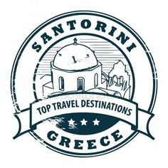 2 x Glossy Vinyl Stickers - Santorini Greece Travel Fun Laptop Decal Vintage Images, Vintage Posters, Drawing Male Hair, Grand Canyon Arizona, Travel Stamp, Passport Stamps, Vacation Memories, Top Travel Destinations, Travel Scrapbook