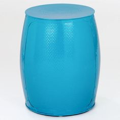 One of my favorite discoveries at WorldMarket.com: Pagoda Blue Metal Accent Stool~ This would go on my patio.