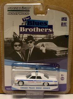 1:64 GREENLIGHT HOLLYWOOD GREATEST HITS * CHICAGO POLICE DODGE MONACO - Blues Br #GreenLight #Dodge