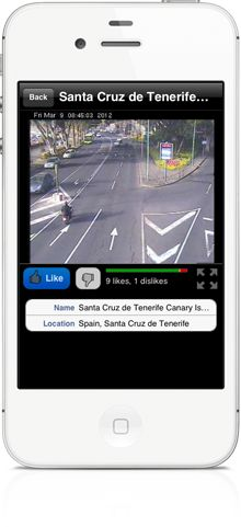 You can watch live fullscreen video from the webcams worldwide and read essential webcam's place information in World Live Cams app for iPhone, iPad, Android, Windows Phone smartphones and tablets  http://livecams.vinternete.com