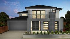 House facade color grey 45 ideas for 2019 Exterior Gray Paint, Exterior House Colors, Brick Facade, Facade House, House Exteriors, Ranch House Plans, New House Plans, Modern House Facades, Modern Architecture
