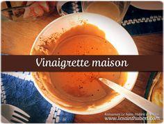 Recette de Chef : ma sauce vinaigrette maison à la moutarde et au vinaigre balsamique. Blog du Restaurant Le Saint-Hubert de Briare (Loiret, Région Centre, France). http://www.lesainthubert.com/blog/?p=3011