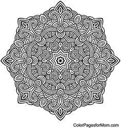 Mandala Coloring Page 10