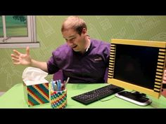 How To LEGOfy Your Desk! Using basic LEGO interlocking and brick bending techniques, David shows you how to bring the color back in your life! LEGOfy tissue boxes, monitors, pencil holders along with other desk items or furniture. We are happy to provide you with these easy, DIY homemade LEGO building tips. Join us on Facebook,Twitter, G+ and subscribe to our channel for more awesome building ideas! WARNING: May cause laughter, high fives, fist bumping and coworker envy.
