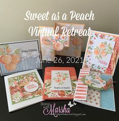Perfect Peach, Sweet Peach, Youre A Peach, Stamping Up Cards, Rubber Stamping, Stampin Up Catalog, Flower Cards, Greeting Cards Handmade, Making Ideas