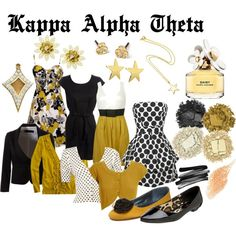 Kappa Alpha Theta, created by violetpretty on Polyvore