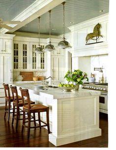 techos pintados casa idea cocinas blancas techos azules color de techo armarios blancos