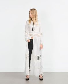 Image 1 of EMBROIDERED TUNIC DRESS from Zara