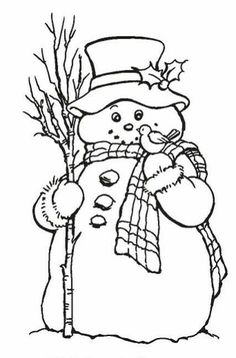 Stampendous - Cling Mounted Rubber Stamp - Country Snowman by aida Christmas Drawing, Christmas Paintings, Christmas Coloring Pages, Coloring Book Pages, Snowman Coloring Pages, Christmas Colors, Christmas Snowman, Snowman Crafts, Christmas Crafts