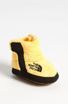 The North Face Fleece Bootie (Baby) available at #Nordstrom