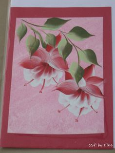 one stroke painting by Elke  card