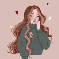 Cartoon Girl Drawing, Anime Girl Drawings, Cool Art Drawings, Girl Cartoon, Art Sketches, Disney Princess Art, Digital Art Girl, Cartoon Art Styles, Character Drawing