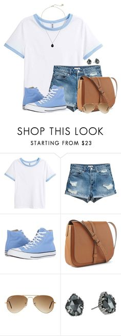 """Baby Blue"" by victoriaann34 ❤ liked on Polyvore featuring Converse, Gap, Ray-Ban and Kendra Scott"