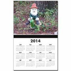 Gnome Calendar Print> Lisa Williams Art
