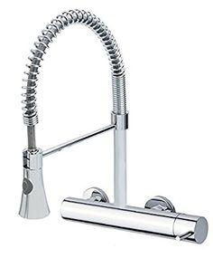 Rubinetto miscelatore monocomando rubinetto küchenarmatur da parete con doccetta