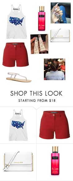 """""""4 Sets Of 4th July✨❤️"""" by alanda-earvin ❤ liked on Polyvore featuring LE3NO, MICHAEL Michael Kors, Victoria's Secret and Boohoo"""