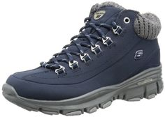 Skechers, Color Azul, Hiking Boots, Shoes, Fashion, Leather Slippers, Zapatos, Blue Nails, Accessories