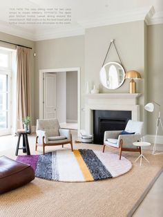 The Globo rug designed by Patricia Urquiola for Gan Rugs in a bright and airy living room http://wovenground.net/modern/gandi-blasco-rugs/globo/multi