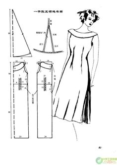 Schnittmuster Kleid - Dress Pattern - Vintage