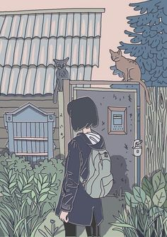 Shared by bedoor ali. Find images and videos about art, anime and photo on We Heart It - the app to get lost in what you love. Art And Illustration, Illustrations, Aesthetic Anime, Aesthetic Art, Aesthetic Japan, Japanese Aesthetic, Aesthetic Drawing, Japanese Style, Pretty Art
