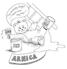 Arnica http://www.owenhomoeopathics.com.au/catalog.php?item=117
