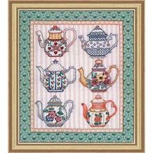 cross stitch! For that tea-lover in your life...