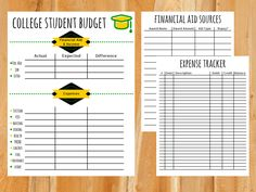 budgeting worksheets for students
