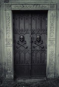 Not the most welcoming front door.