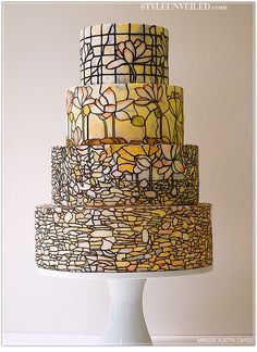 Stained Glass Wedding Cake - Maggie Austin Cake  beautiful, but is it tasty?