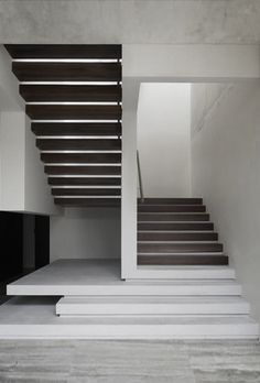 #concrete #wood # stairs