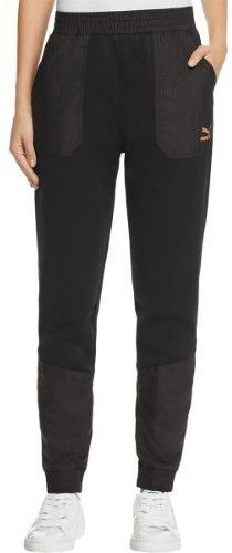 Puma Womens Two Tone Elastic Athletic Pants