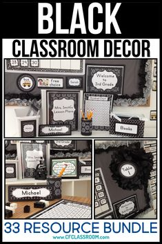 Black and White classroom decorations, teal classroom decor, or blue classroom t. - Black and White classroom decorations, teal classroom decor, or blue classroom themes…all refer t - Classroom Color Scheme, Classroom Decor Themes, Classroom Setting, Classroom Design, Future Classroom, School Classroom, Classroom Organization, Classroom Ideas, Black And White Theme