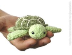 Mini turtle, stuffed animal, tiny plush sea turtle, sea creatures mini amigurumi, pocket toy, crochet turtle, green turtle, knit turtle by SecondChildhoodToys on Etsy https://www.etsy.com/listing/462884173/mini-turtle-stuffed-animal-tiny-plush