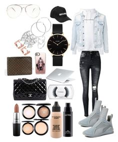 """OOTD ELEGANT"" by madisonkiss on Polyvore featuring F.A.M.T., Vetements, CLUSE, MAC Cosmetics, Puma, Chanel, Casetify, Louis Vuitton and Melissa Odabash"