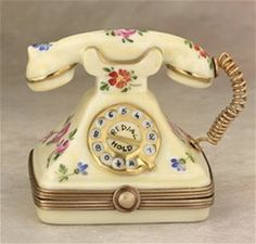 Limoges French Country Telephone Box The Cottage Shop - $148.00