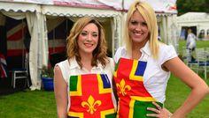 Superb Lincolnshire Flag Aprons ladies!