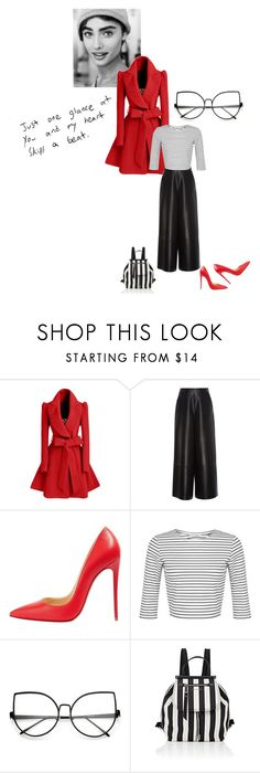"""And my heart skips a beat"" by ellasophialove ❤ liked on Polyvore featuring H&M, WithChic, Lanvin, Christian Louboutin, Miss Selfridge and Marc Jacobs"