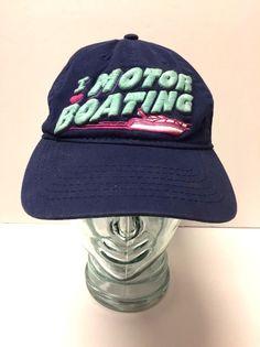 c5f339410ab Men s Vintage Navy Blue I Love Motor Boating Snapback Hat  NotApplicable   Trucker Men s Vintage
